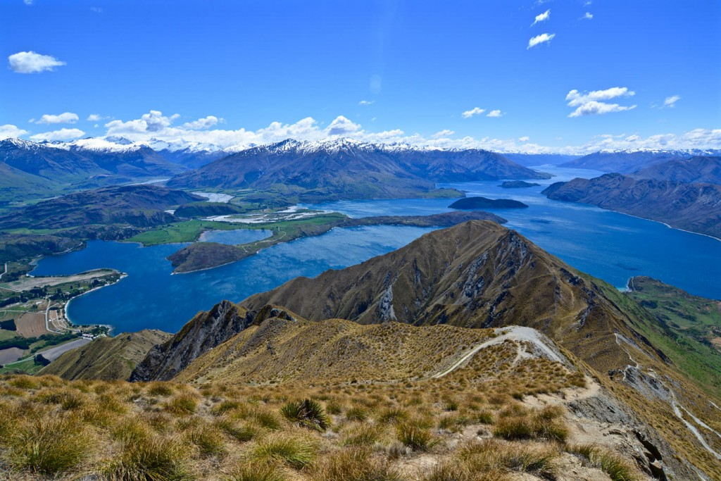 View at Lake Wanaka from Roys Peak