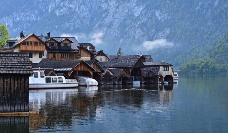 Fog Hallstatt Lake