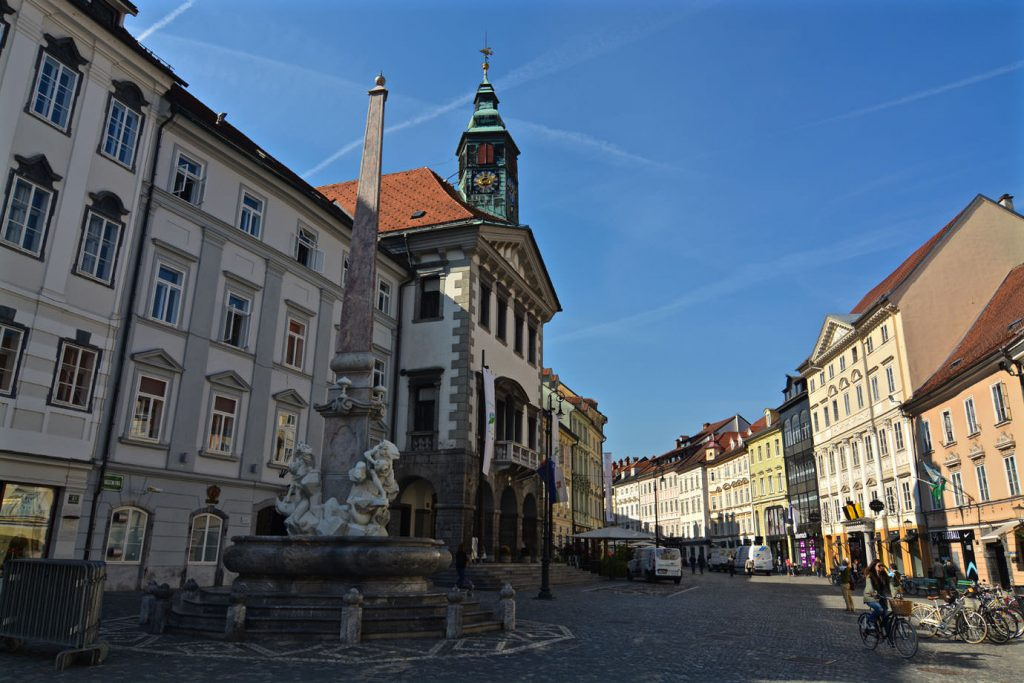 square, city, church