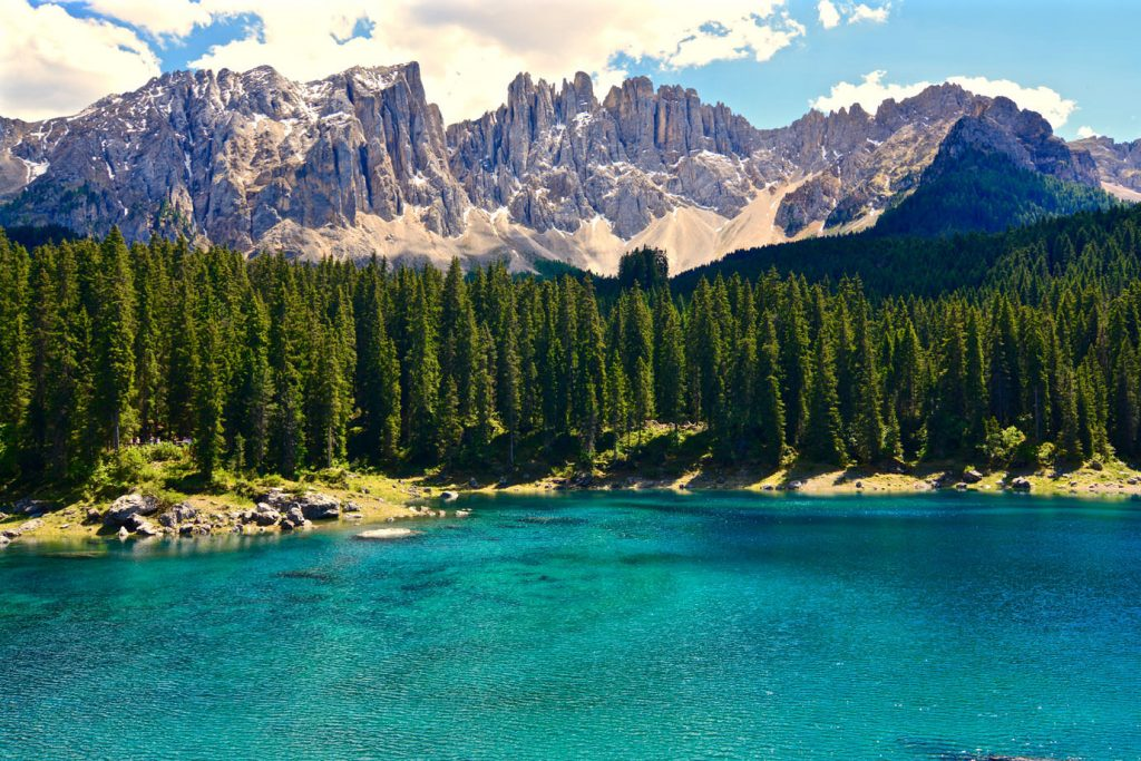 Karersee Mountains Italy