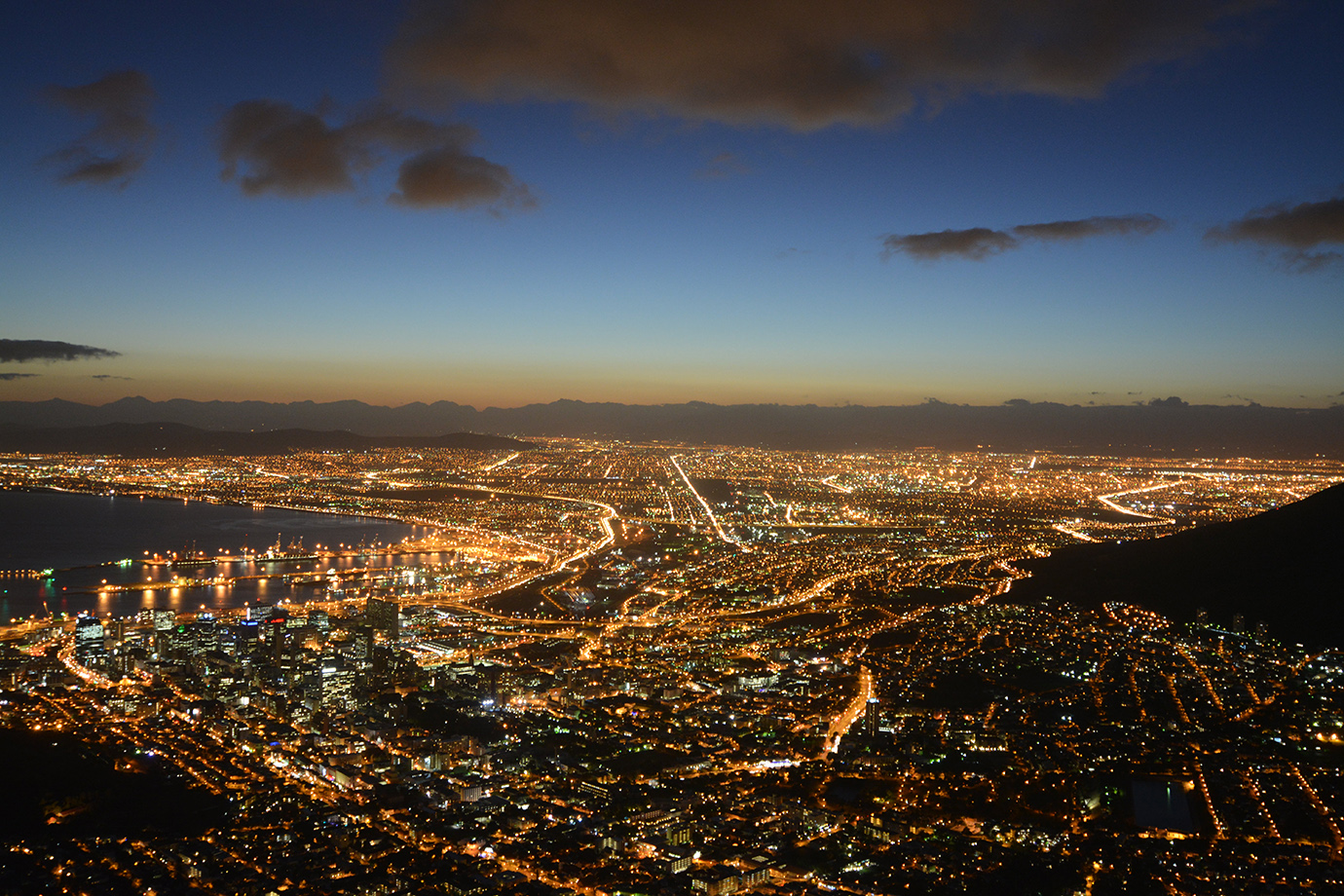 Capetown by night