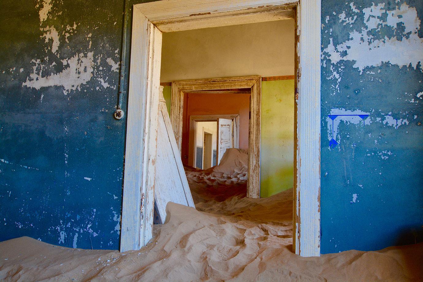 Door in sand