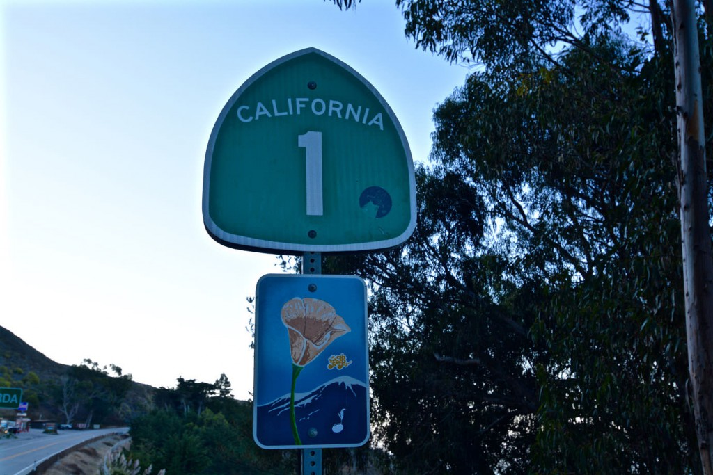 Highway One sign