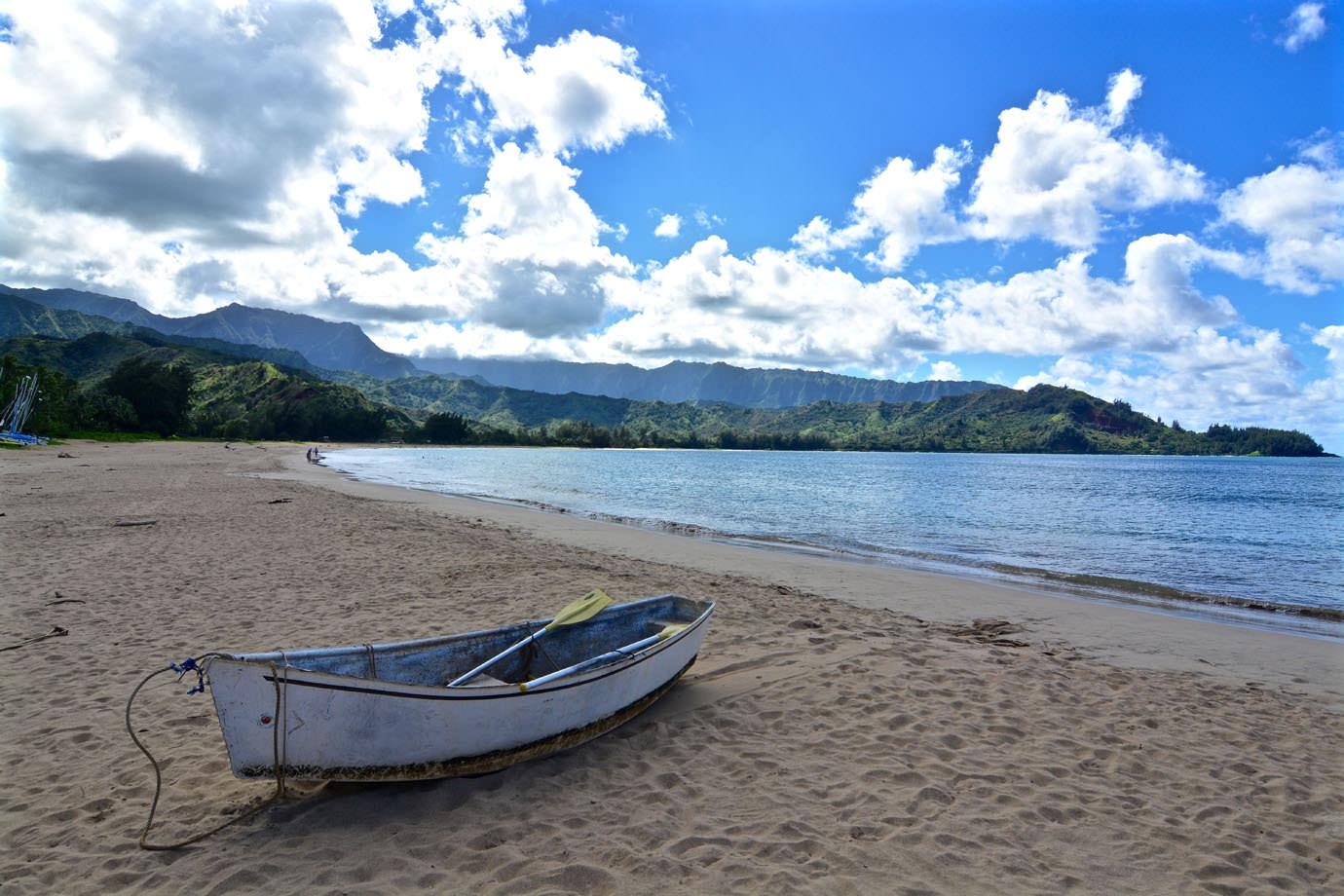 Boat at Hanalei Bay
