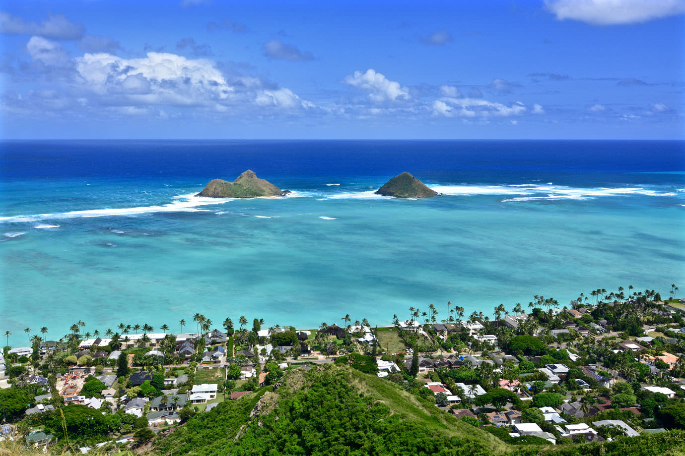 View from Lanikai Pillboxes