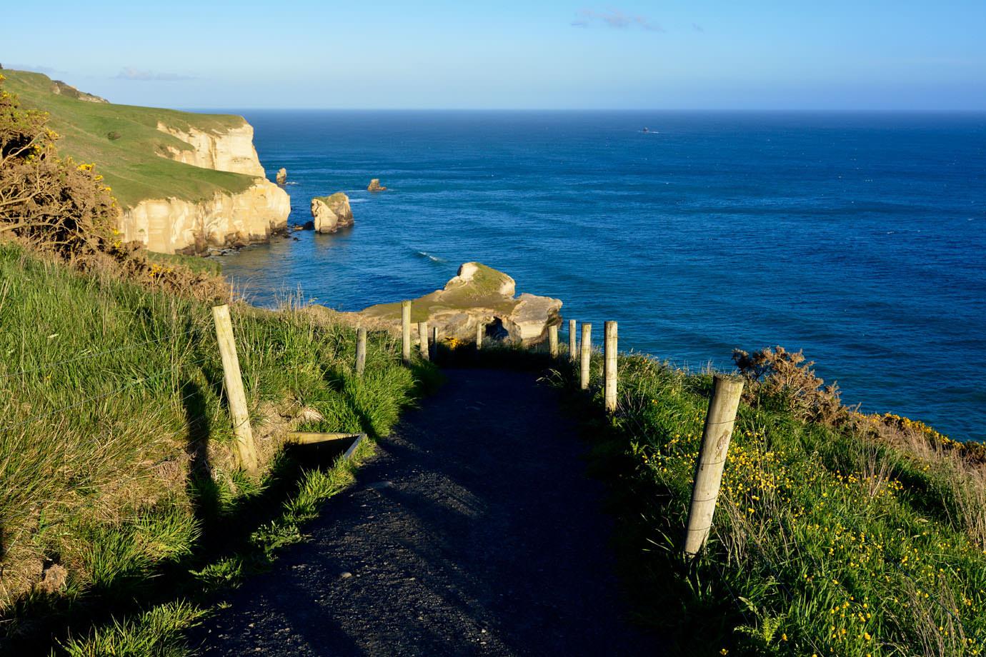 Path down to Tunnel Beach