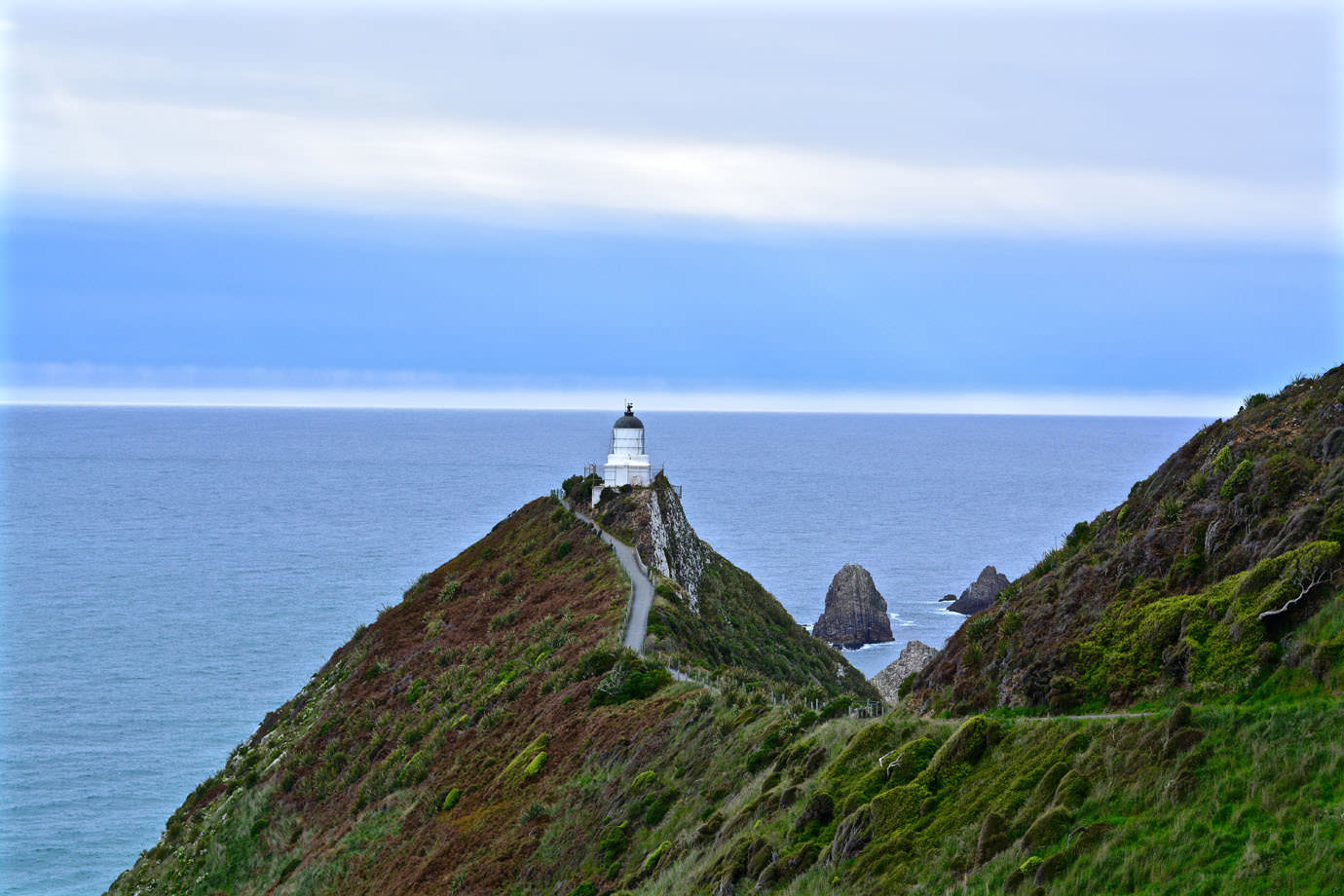 Way to Nugget Point Lighthouse