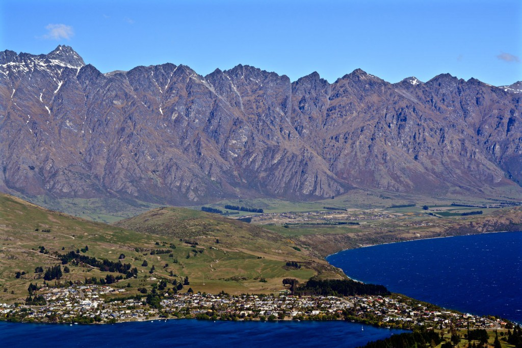 Overlooking Queenstown from Cemetery Hill