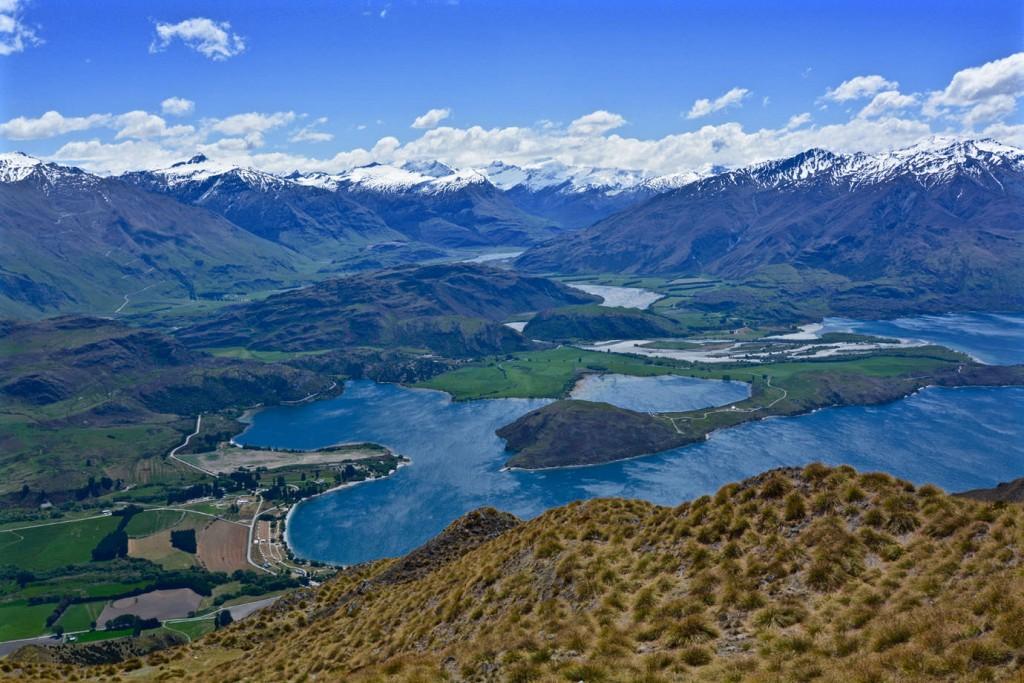 View at Lake Wanaka from Roys Peak