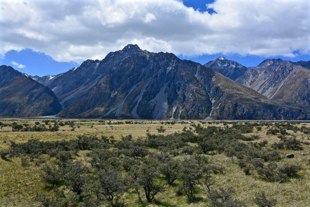 Mountain range within Mount Cook National Park