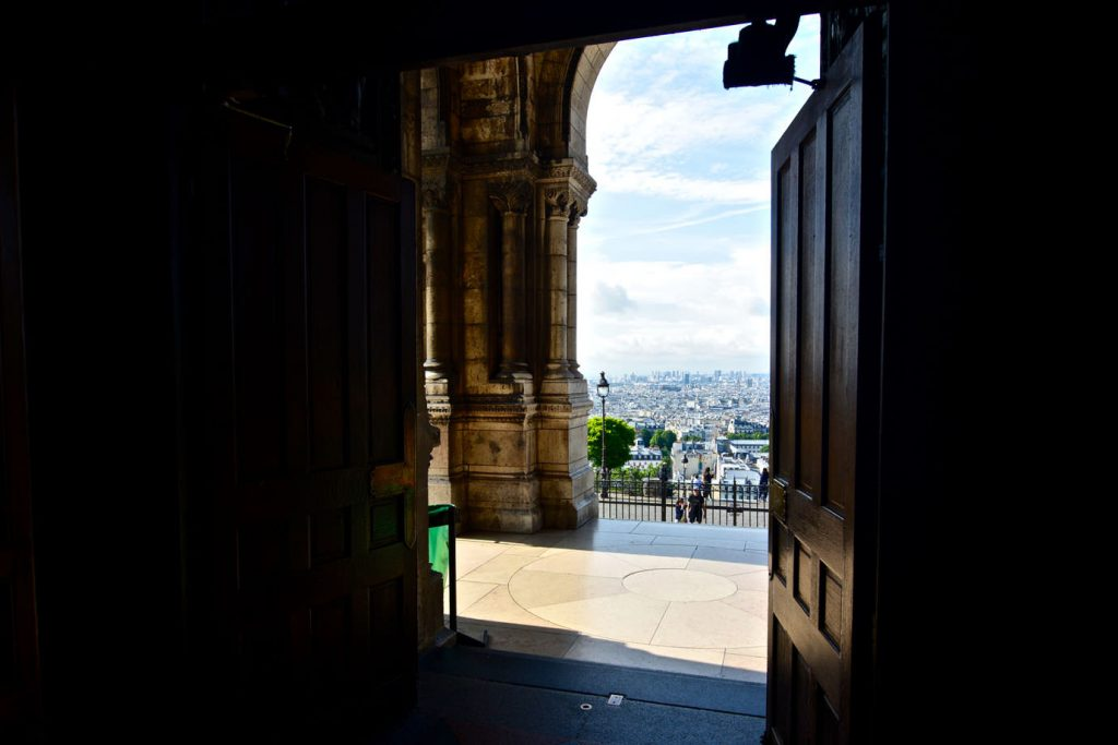 View from the inside of Sacre Cœur